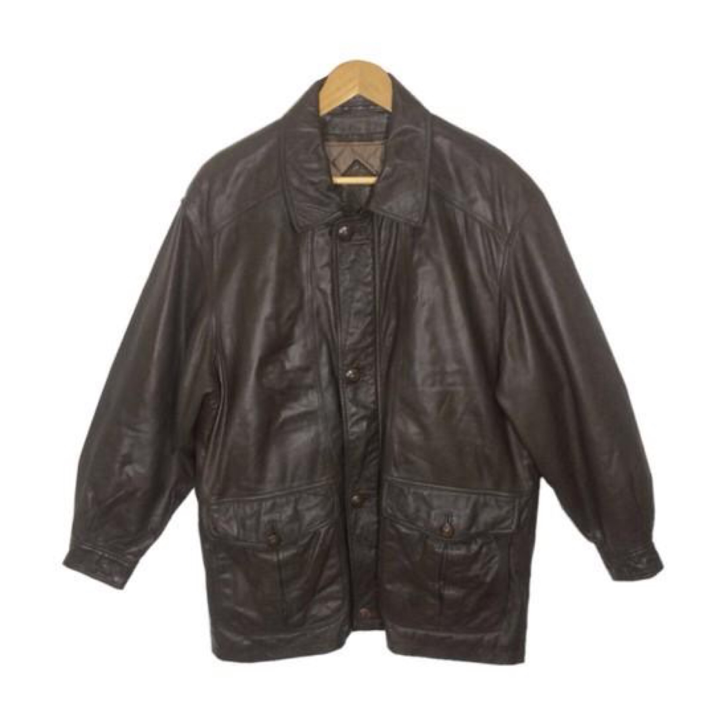 Yves Saint Laurent Brown Leather Jacket