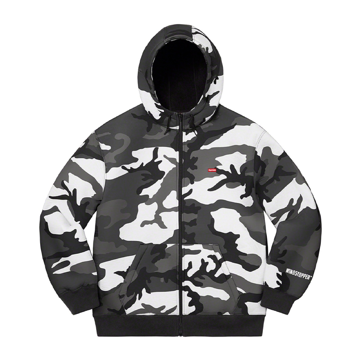 Supreme Windstopper Zip Up Hooded Sweatshirt Snow Camo