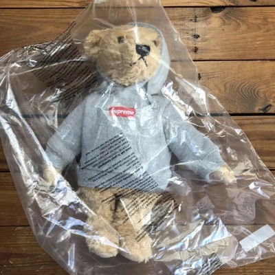 Brand New Supreme Steiff Teddy Bear Box Logo