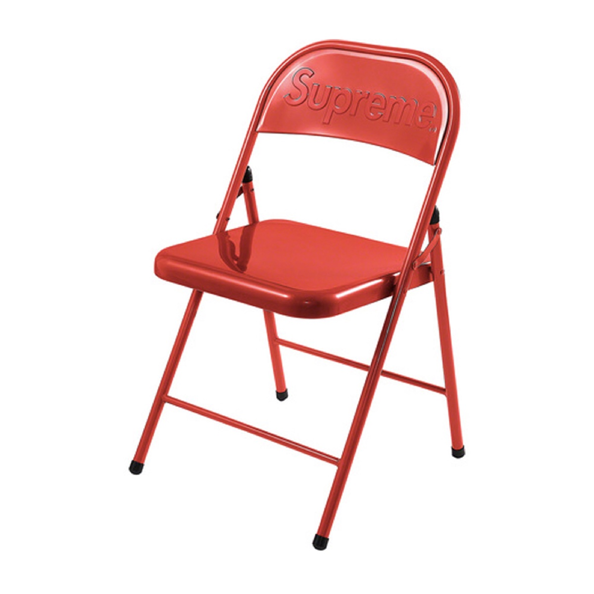 Supreme Metal Folding Chair Red