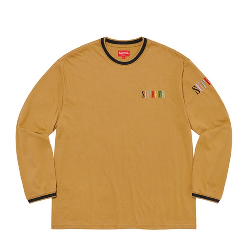 Supreme Multi Color Logo LS Top Gold
