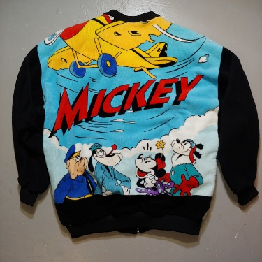 Mickey Mouse Cut & Sew Custom Rare Vintage Unique One-of-a-kind Jacket