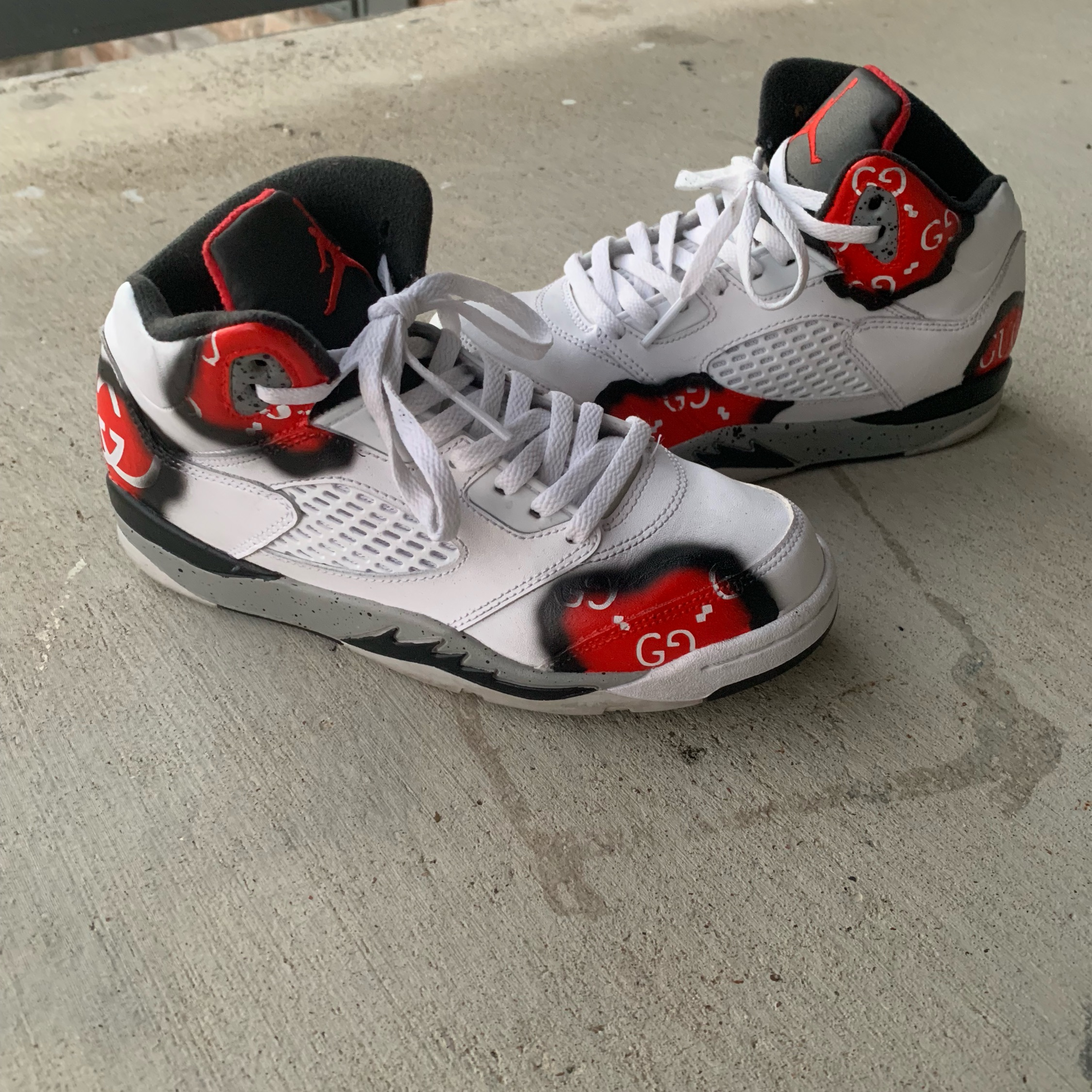 """new style c1d03 22d2a Custom Retro 5 """"Gucci Burn Theme"""" Any Size/Color"""