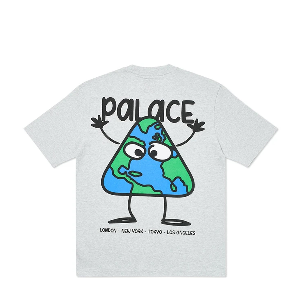 Palace Globlerone T-Shirt Grey