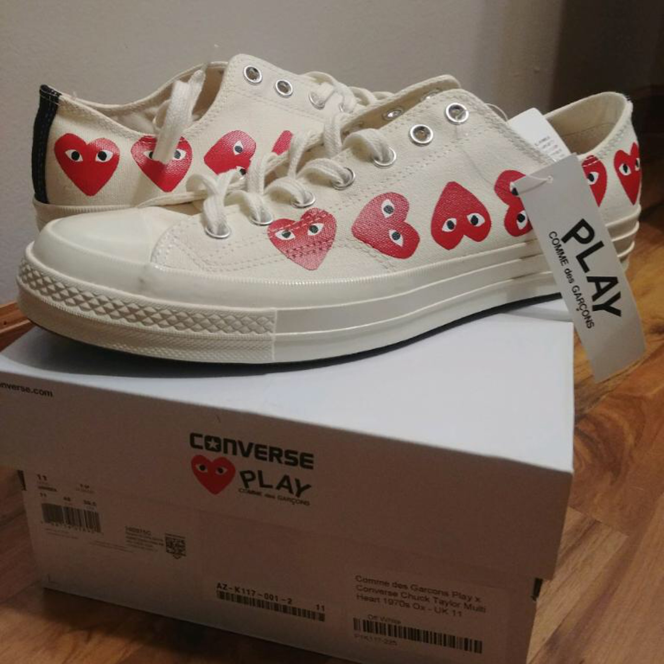 exclusive shoes outlet online fresh styles Comme Des Garcons Multi Heart White Lows