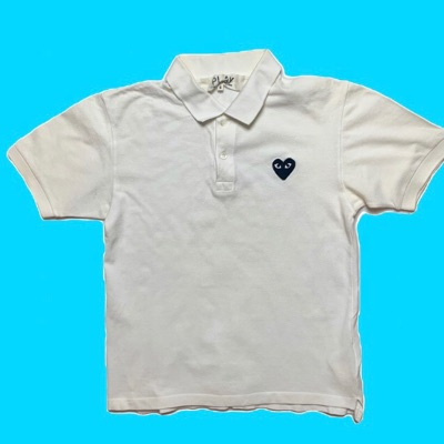 Comme Des Garcons Polo Shirts - White Short Sleeve