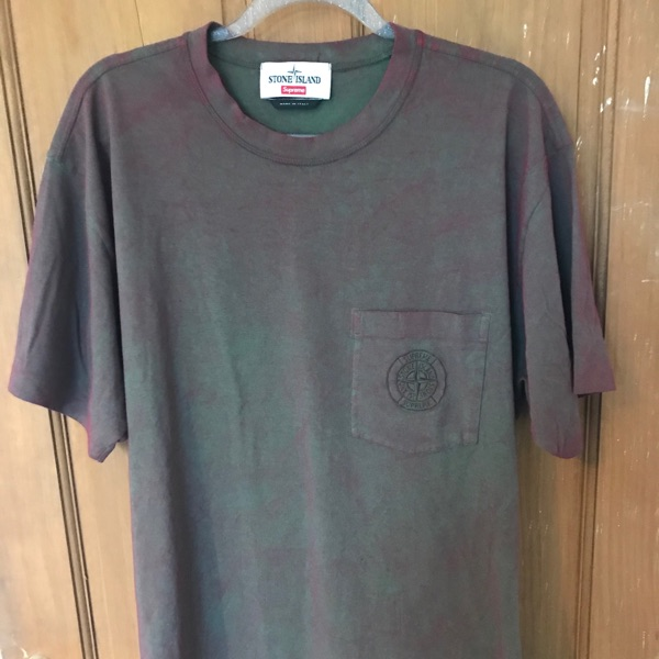Supreme Stone Island Pocket Tee Red