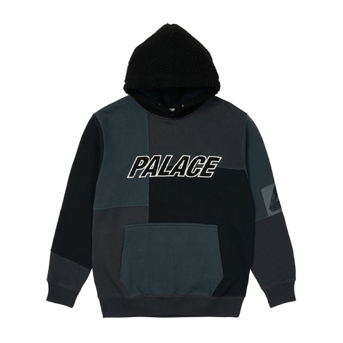 Palace Fleeced Hood Black