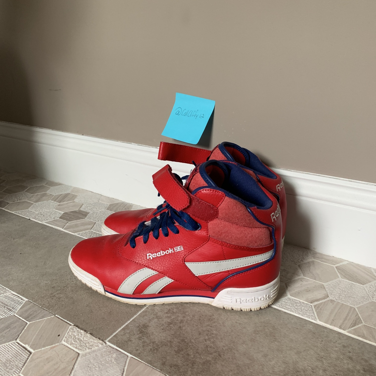 High Top Classic Red Reebok Sneakers