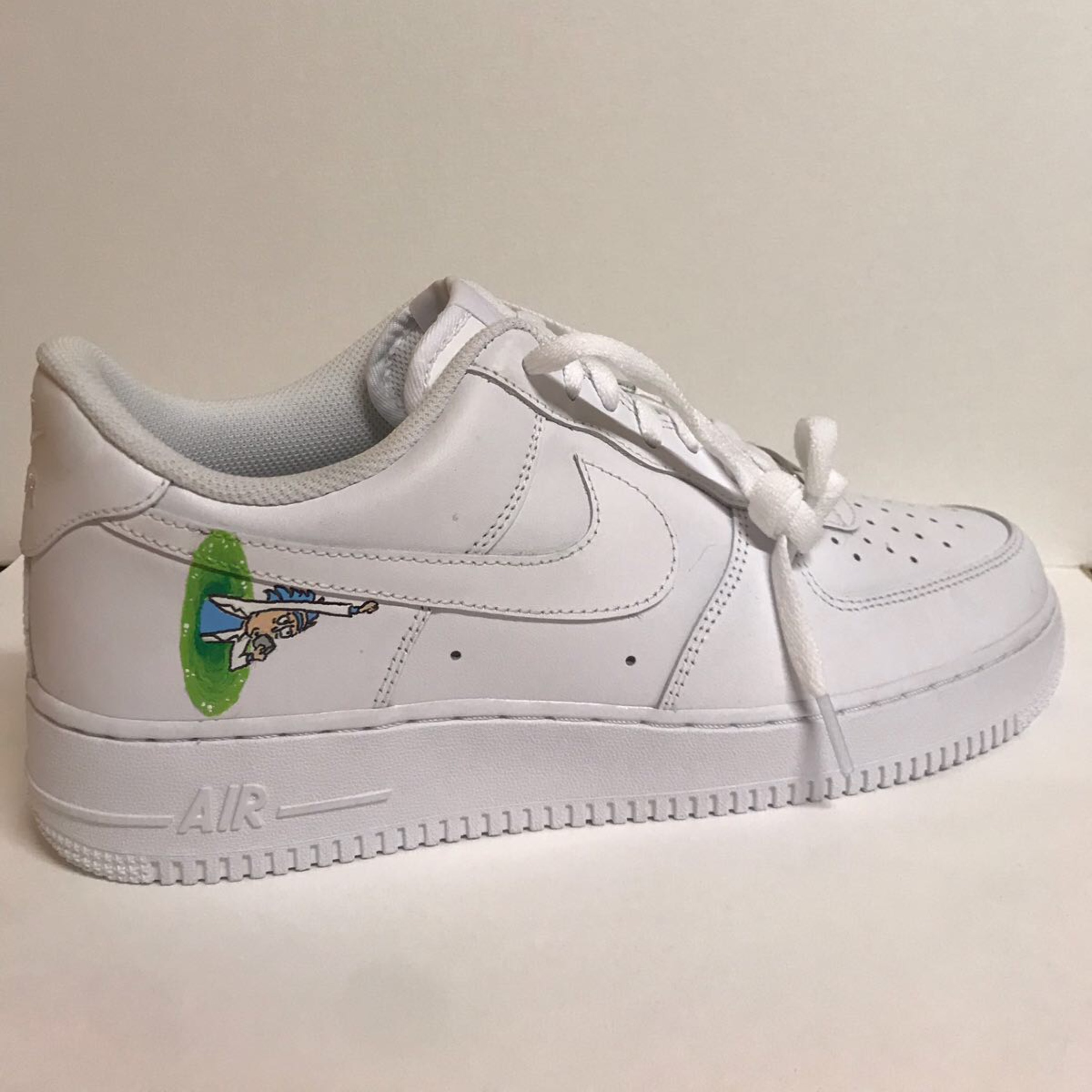 huge discount quality design size 7 Custom Rick And Morty Nike Air Force One