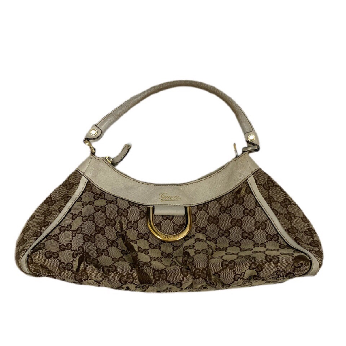 Authentic Gucci vintage beige GG handbag