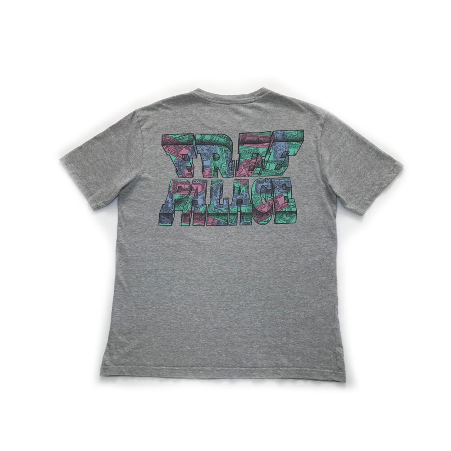 b8791ea507e2 Palace Say Nothin Tee Grey Size Large