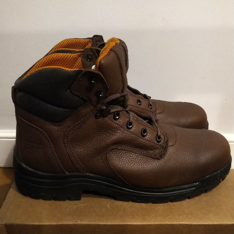 "TIMBERLAND PRO TITAN 6"" SAFETY TOE LEATHER WORK BOOTS 26063 15 M"