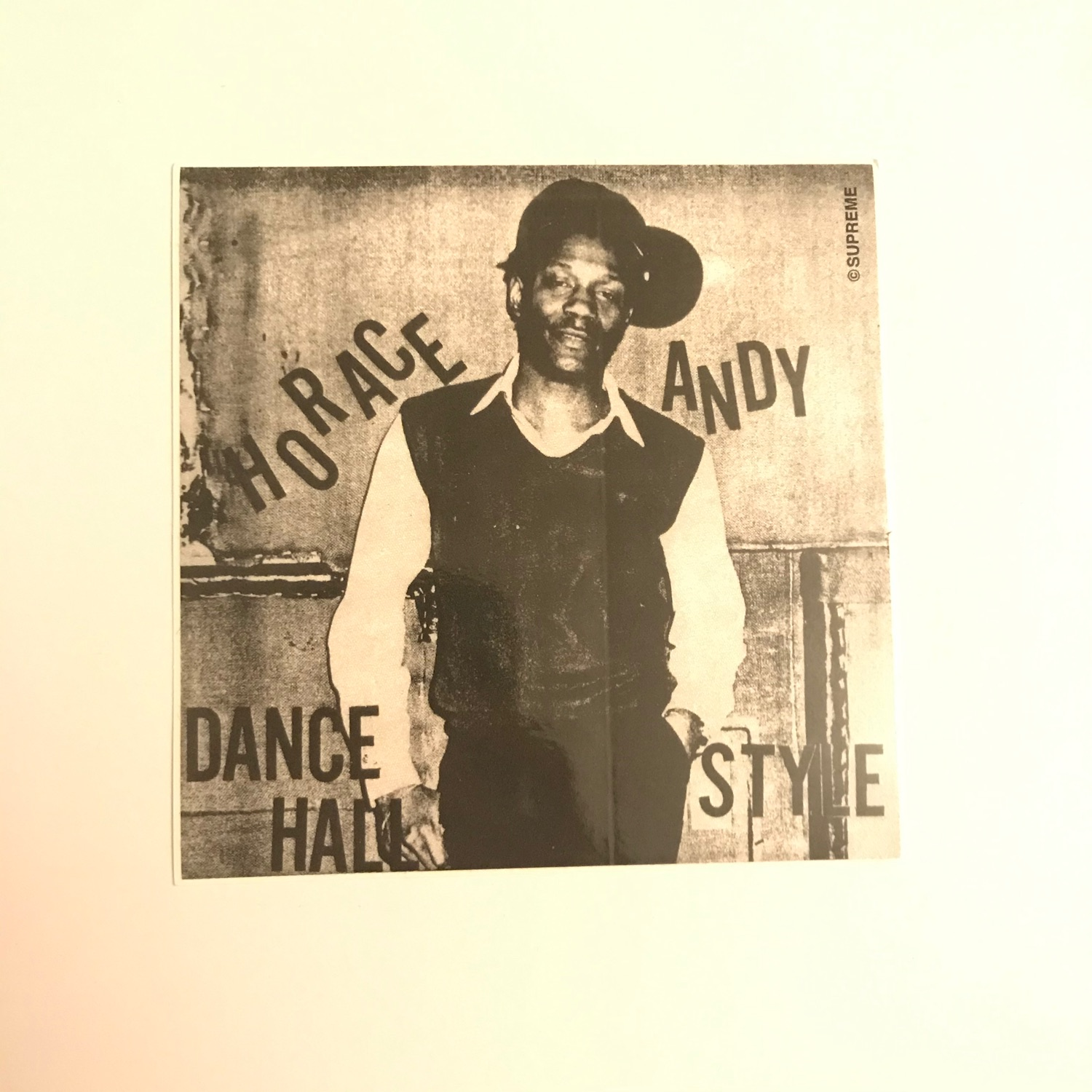 2013 Supreme Horace Andy Sticker