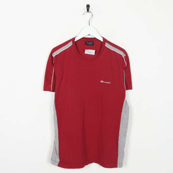 Vintage CHAMPION Small Logo T Shirts Tee Red | Large L