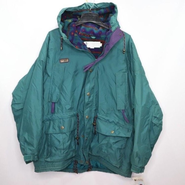 Vintage Columbia Spellout Fleece Lined Jacket