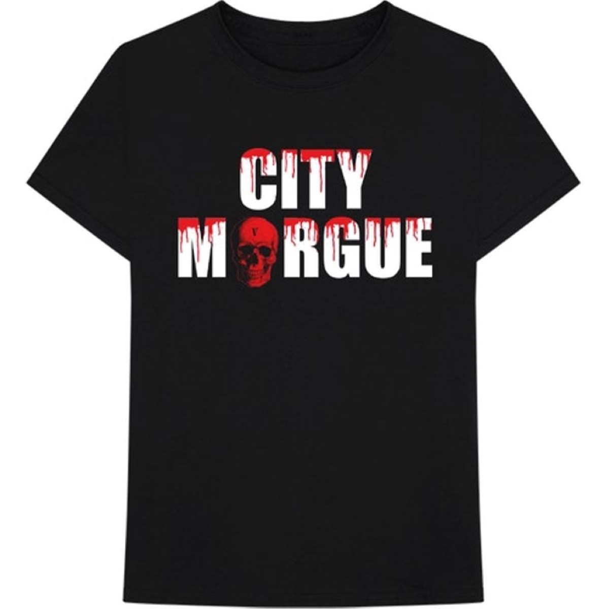 Vlone x City Morgue Drip Black Tee Medium