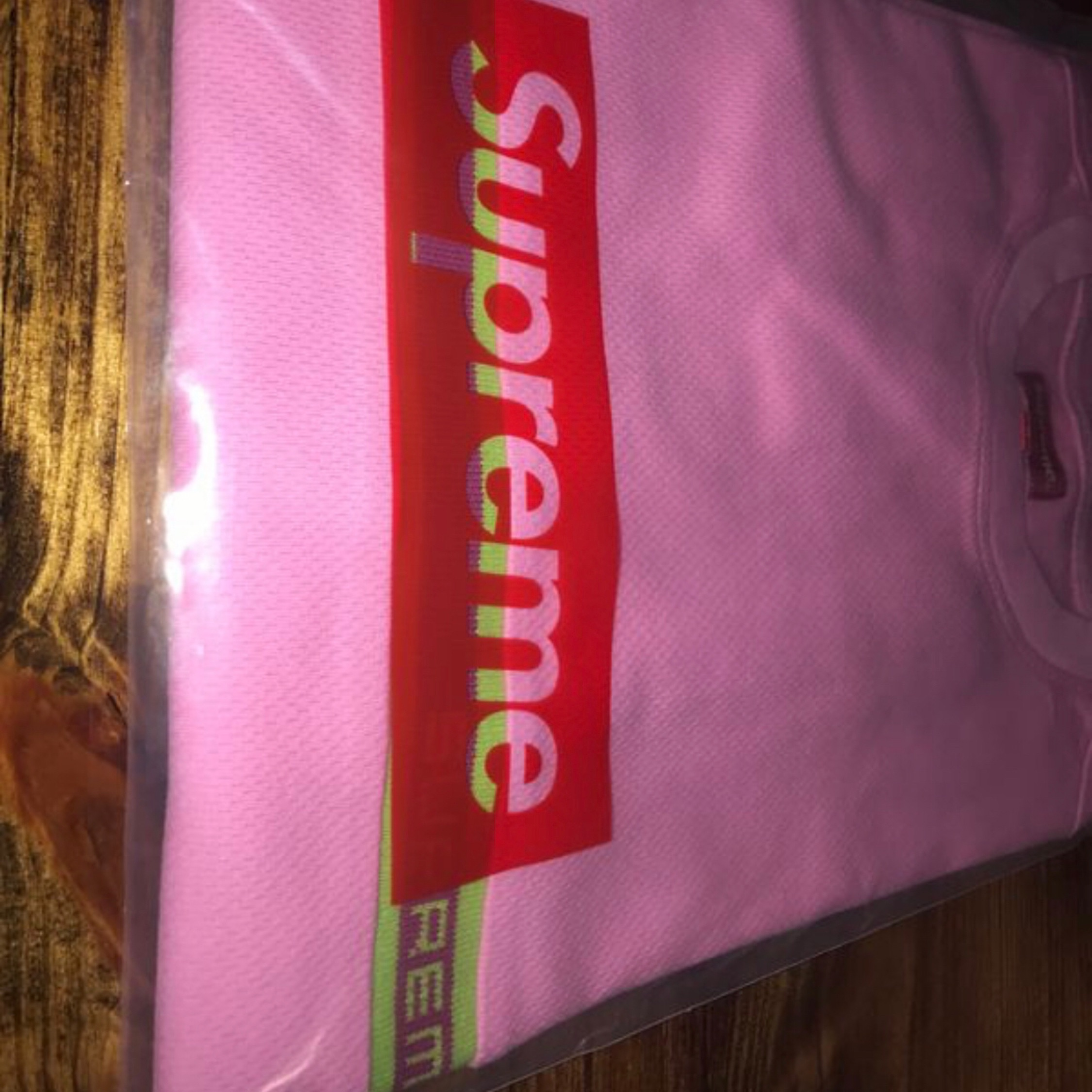 Supreme Knit Stripe Top Pink