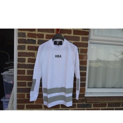 Hood By Air White Double Layer Logo Ls T-Shirt