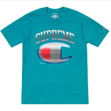 Supreme X Champion Chrome Top Dark Teal Size Large