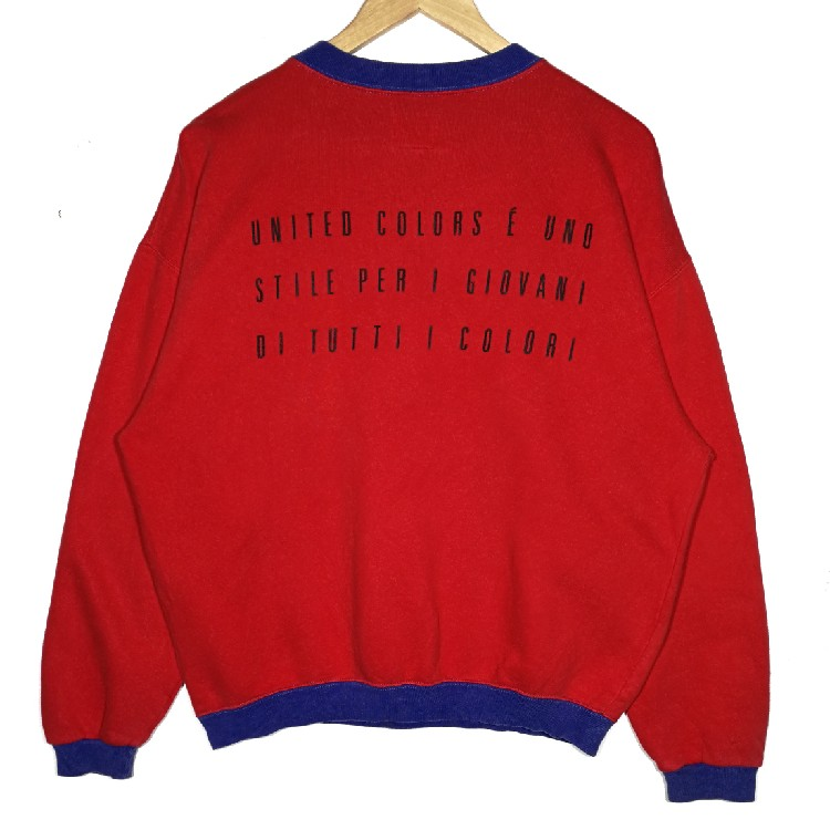 United Colors Of Benetton Sweatshirt benetton crewneck jumper embroidered logo size small very good condition Activewear