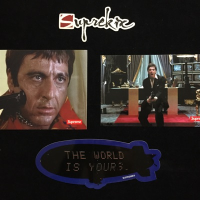 Supreme Fw17 Scarface Sticker Set Of 3