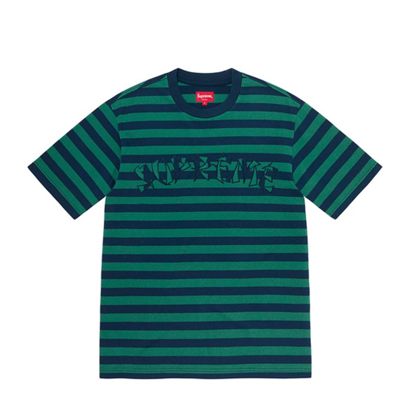 Supreme Stripe Applique SS Top Navy