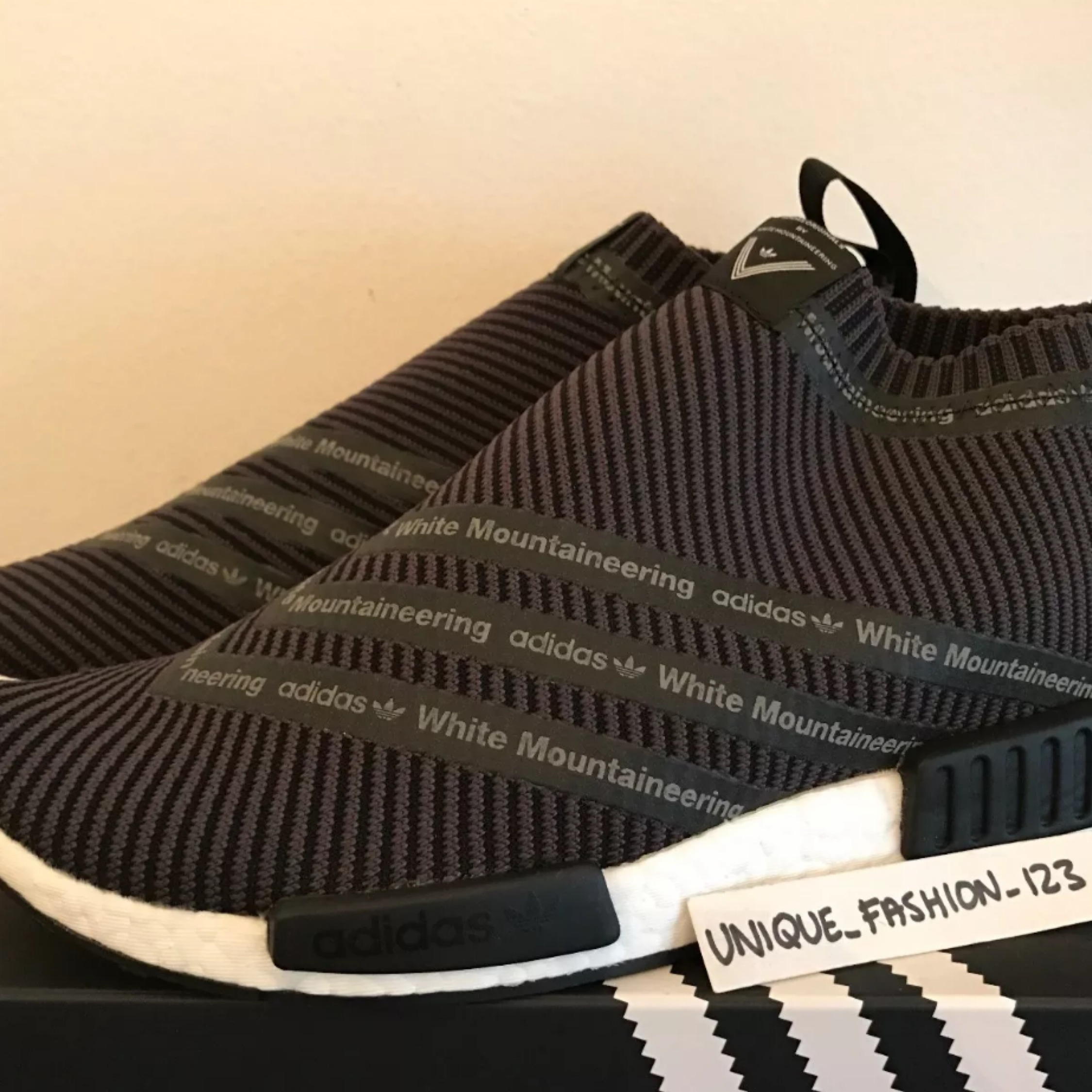 White Mountaineering Nmd Sock Black