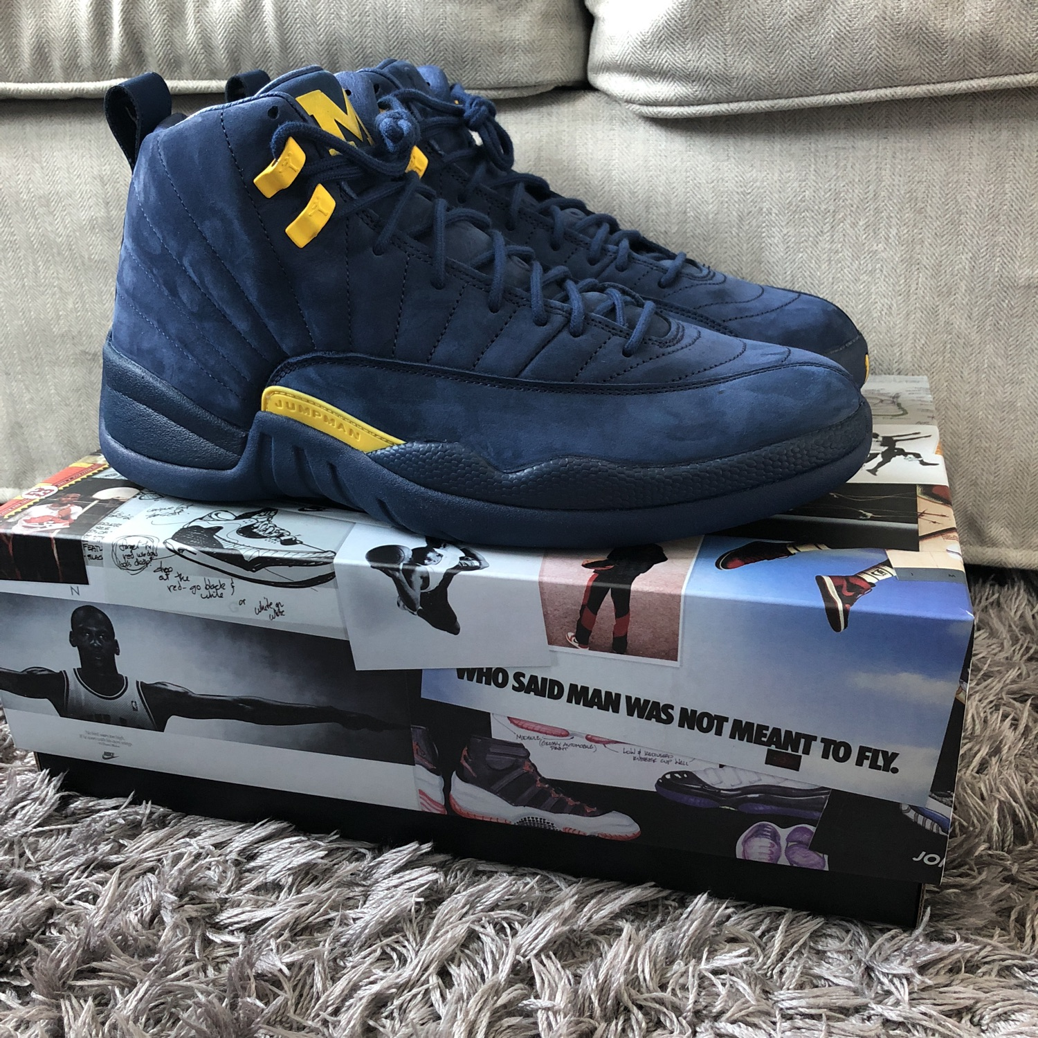 best sneakers 671ef 3d4d1 Air Jordan 12 Michigan Sz 12