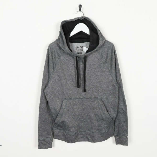 Vintage C9 By CHAMPION Polyester Hoodie Sweatshirt Grey Small S