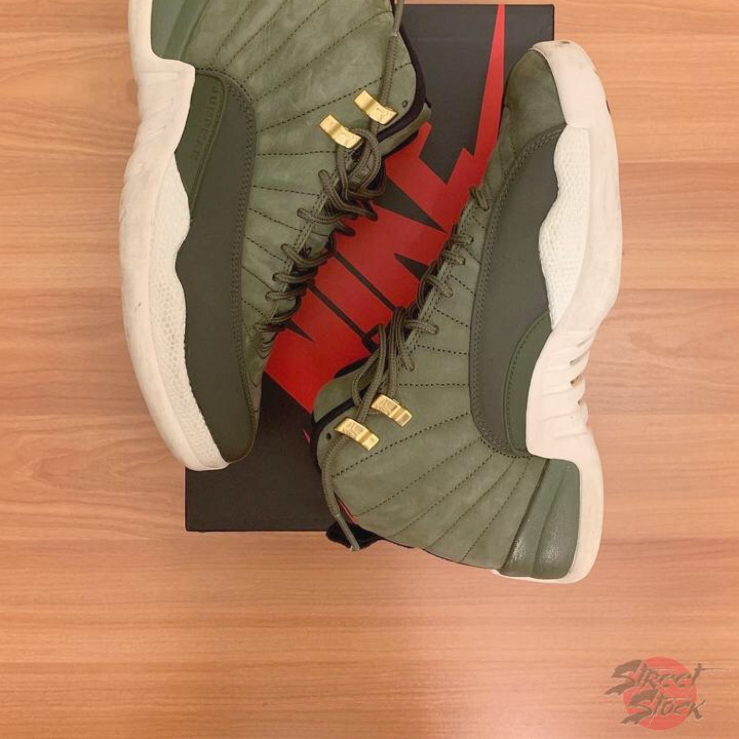 reputable site 729f9 184d4 Jordan 12S Olive Green Mens Size Us 8.5