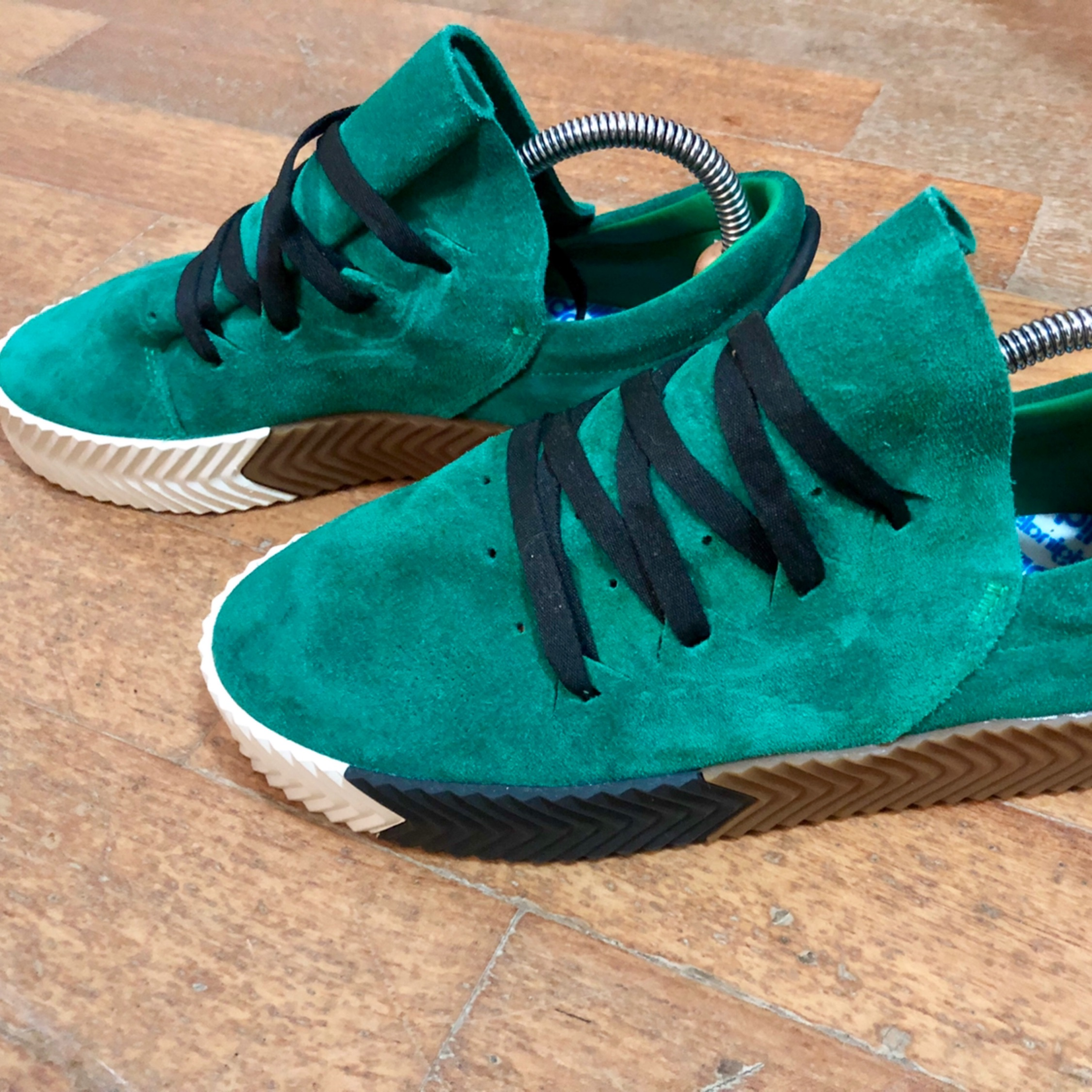 competitive price 0d381 c86f7 Adidas By Alexander Wang Sw Skate Green