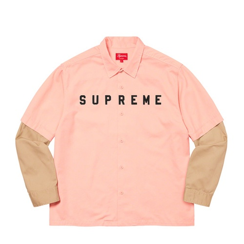Supreme 2 tone work shirt Pink