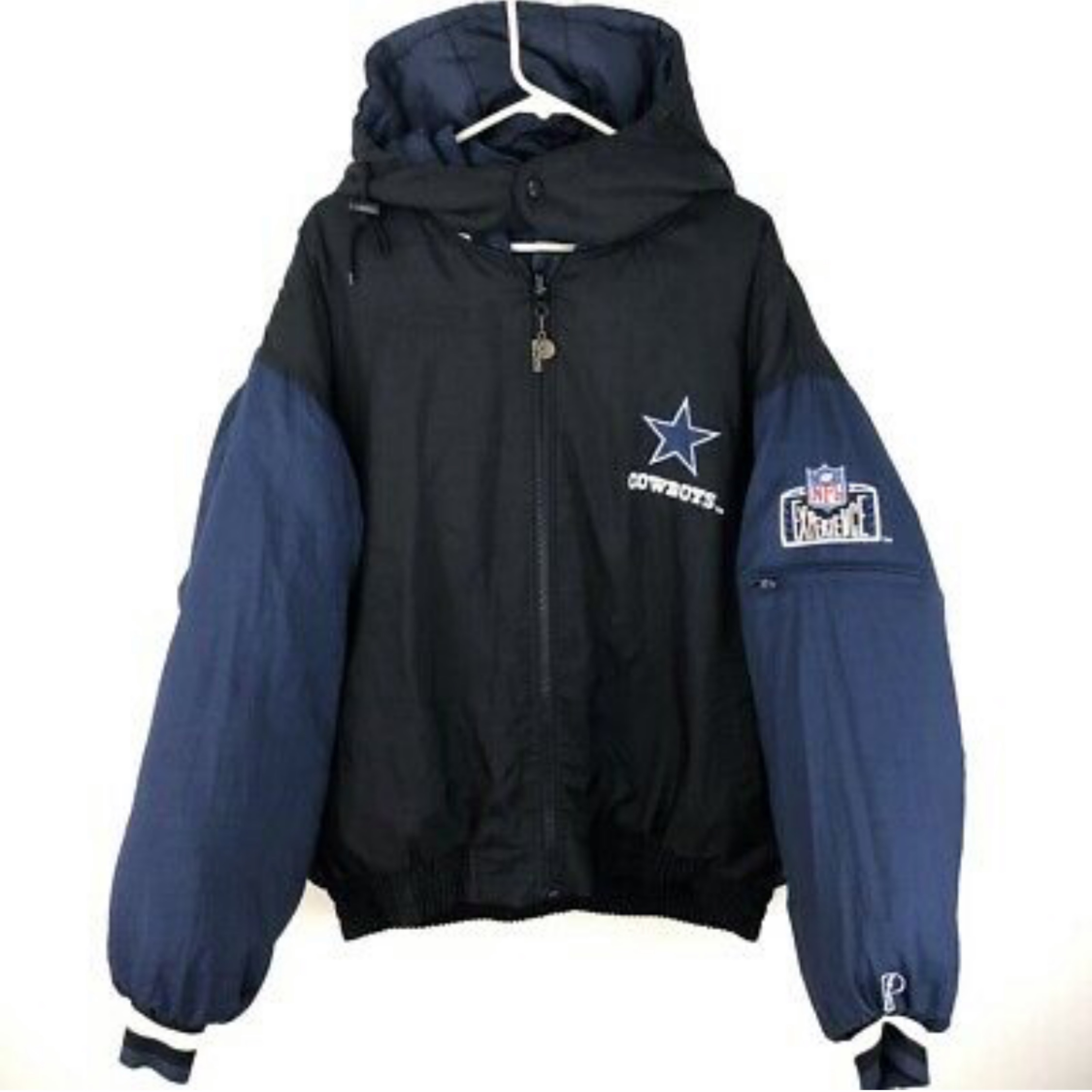 outlet store b9cfc a7791 Vintage Dallas Cowboys Reversible Puffer Jacket