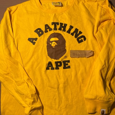 Bape Logo Crewneck Yellow