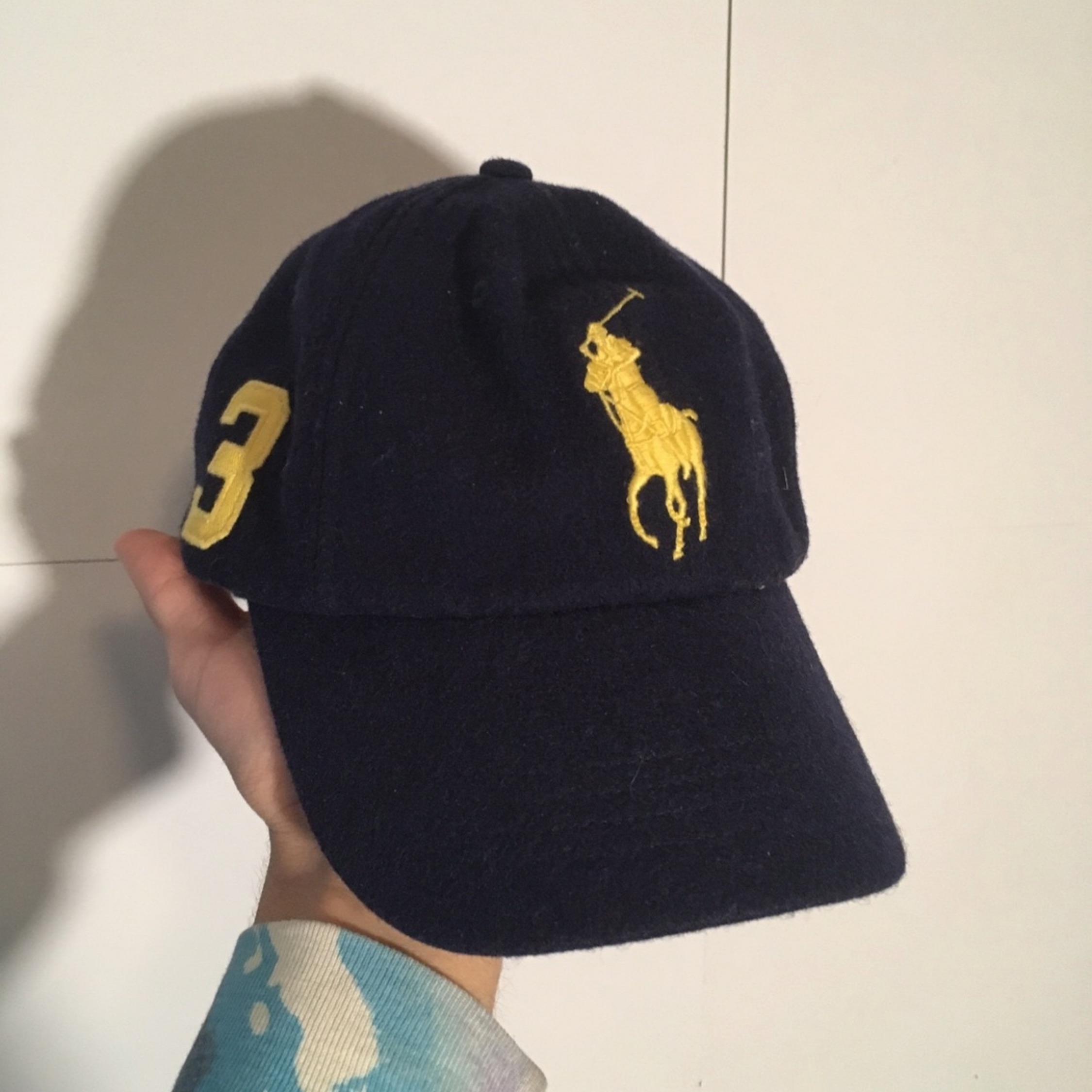 22c0bce58 Polo Leather Strap Wool Dad Hat