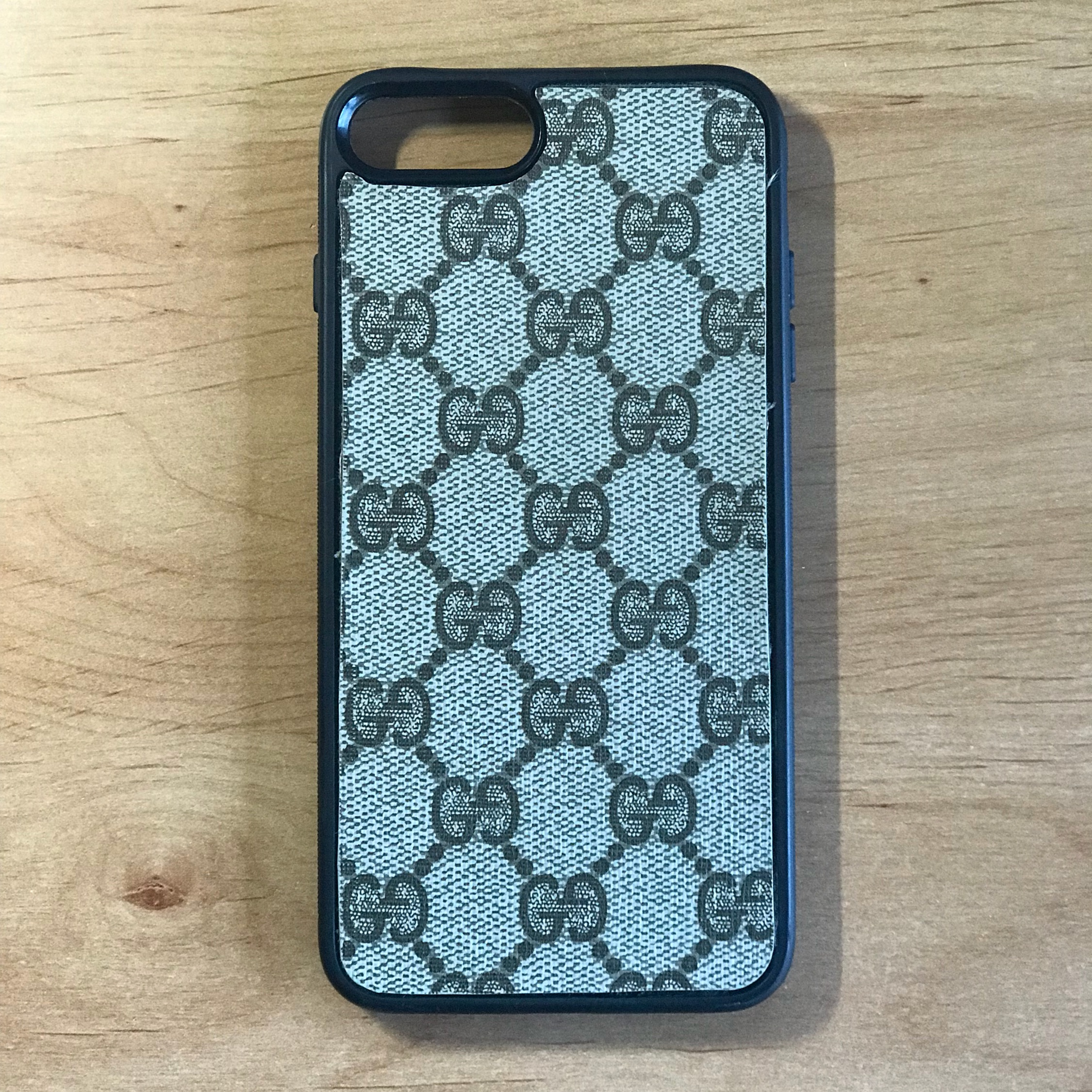 pretty nice 82b62 15abe Real Gucci Leather Custom Iphone 7+ Phone Case