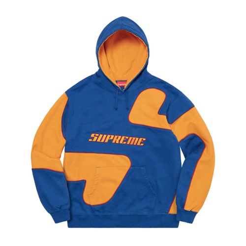 Supreme Big S Hooded Sweatshirt Blue/Orange