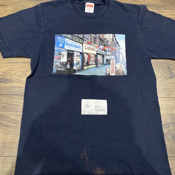 Supreme Hardware Tee Navy