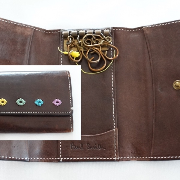 Paul Smith Made In Italy Brown Leather Keys Holder