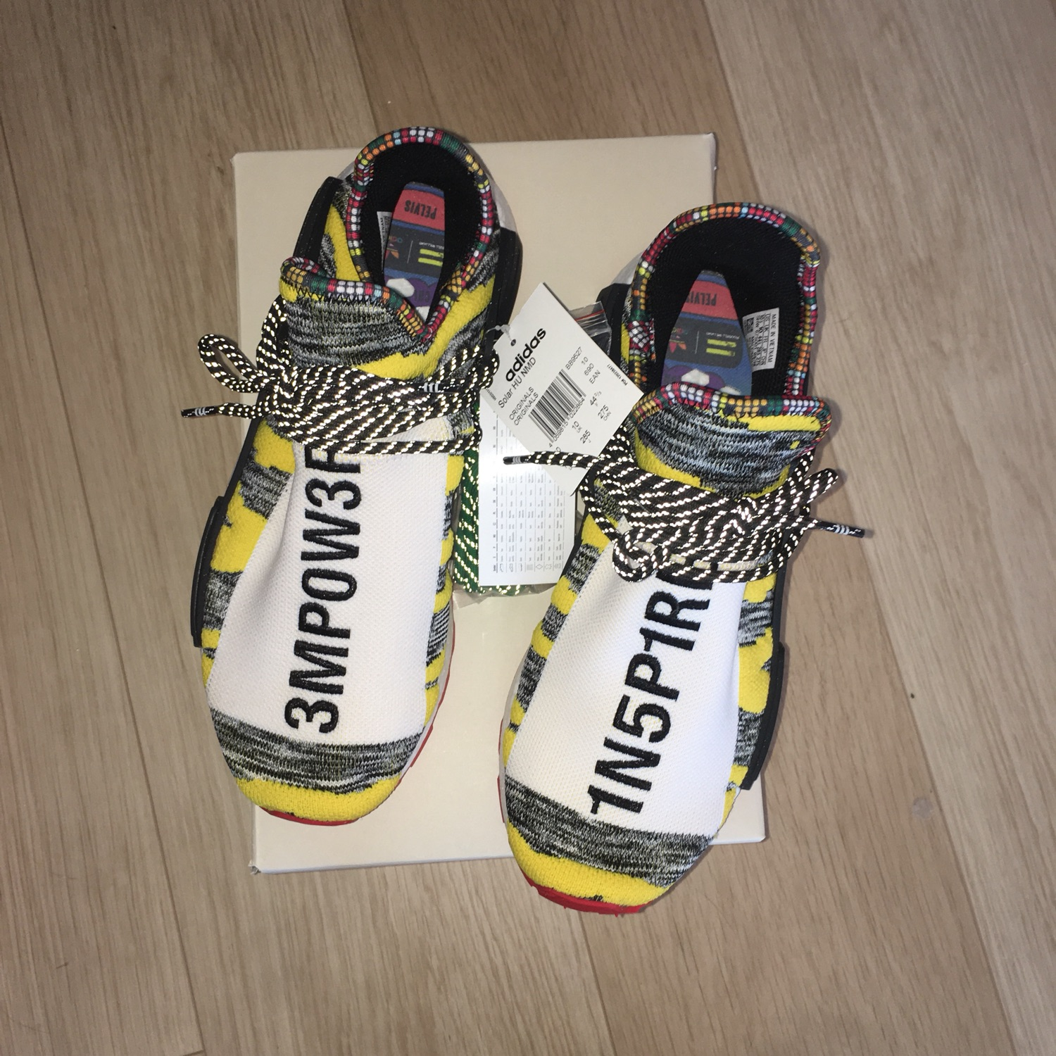 Adidas Nmd Hu Pharrell Solar Pack Red Human Race
