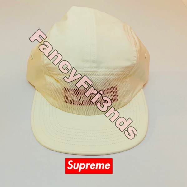 Supreme Front Panel Mesh Camp Cap Red/White
