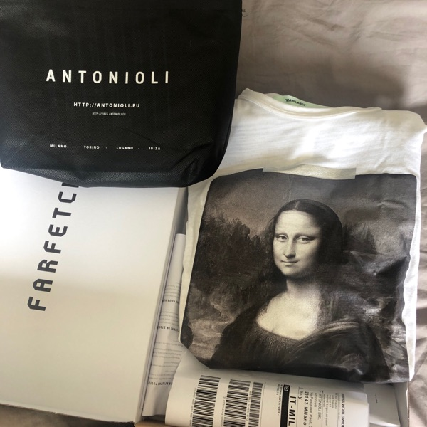 Off White Mona Lisa Long Sleeve T-Shirt