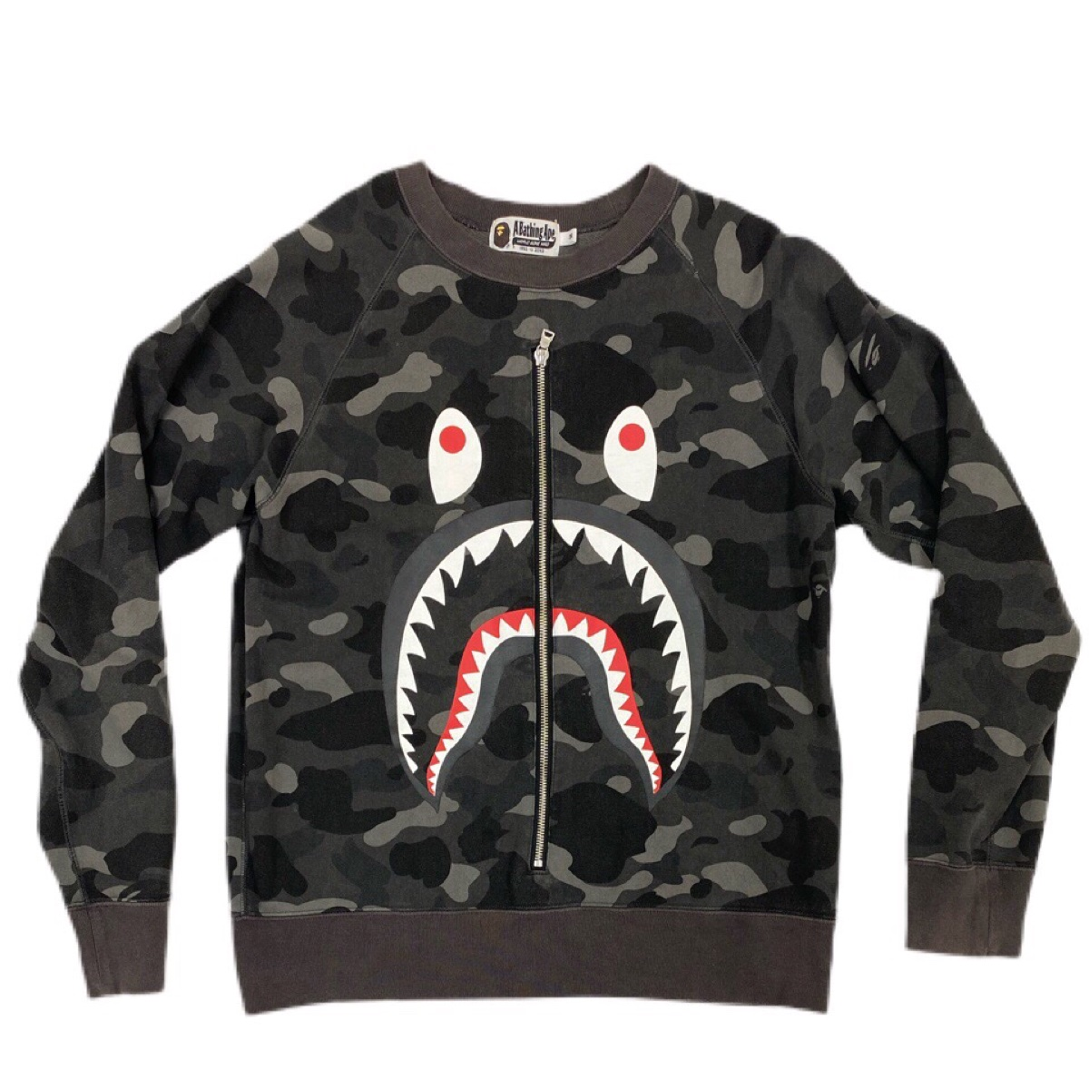 Bape Black Camo Shark Jumper