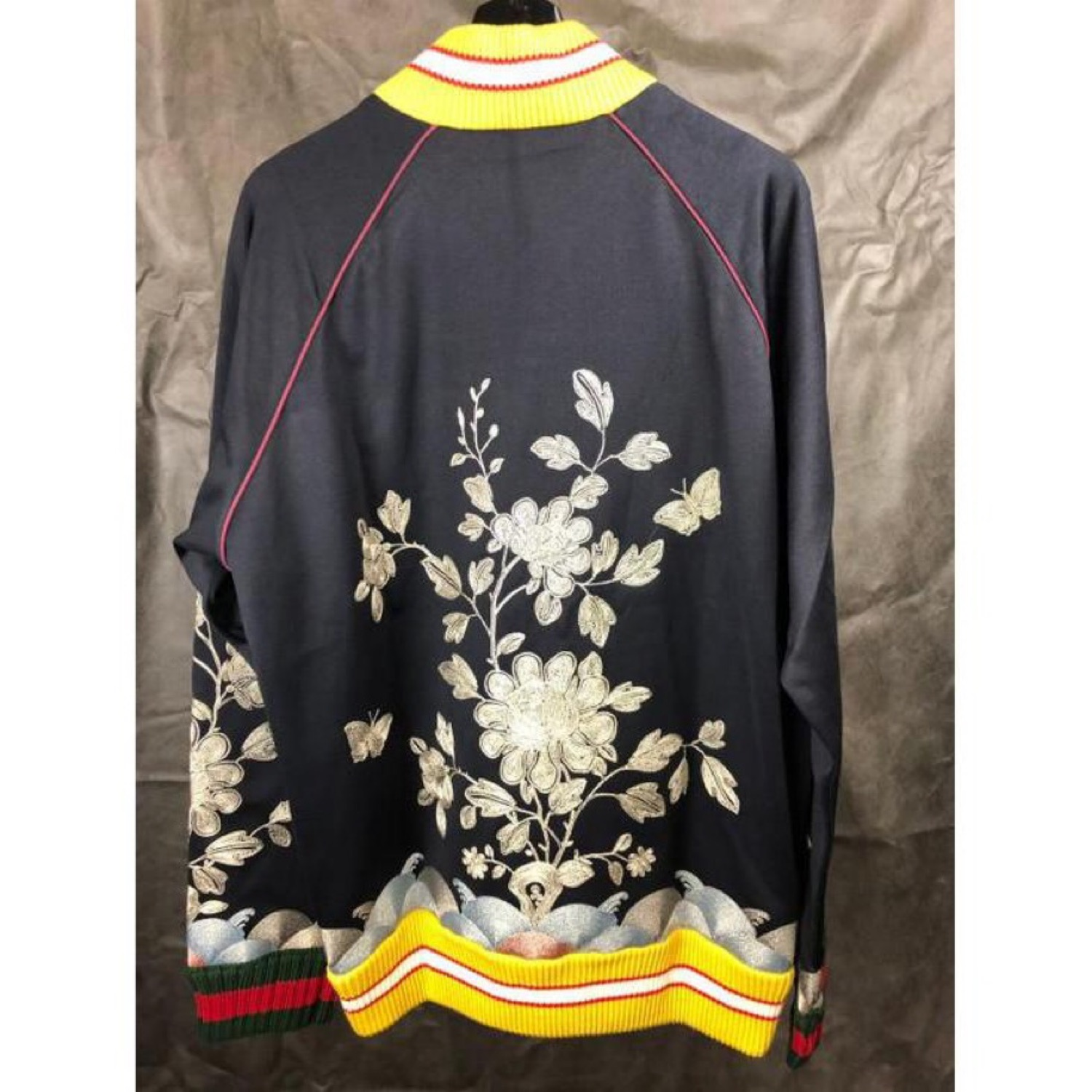Gucci New Bomber \ Jersey Track Jacket