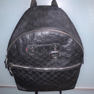 Gucci Backpack Leather Black