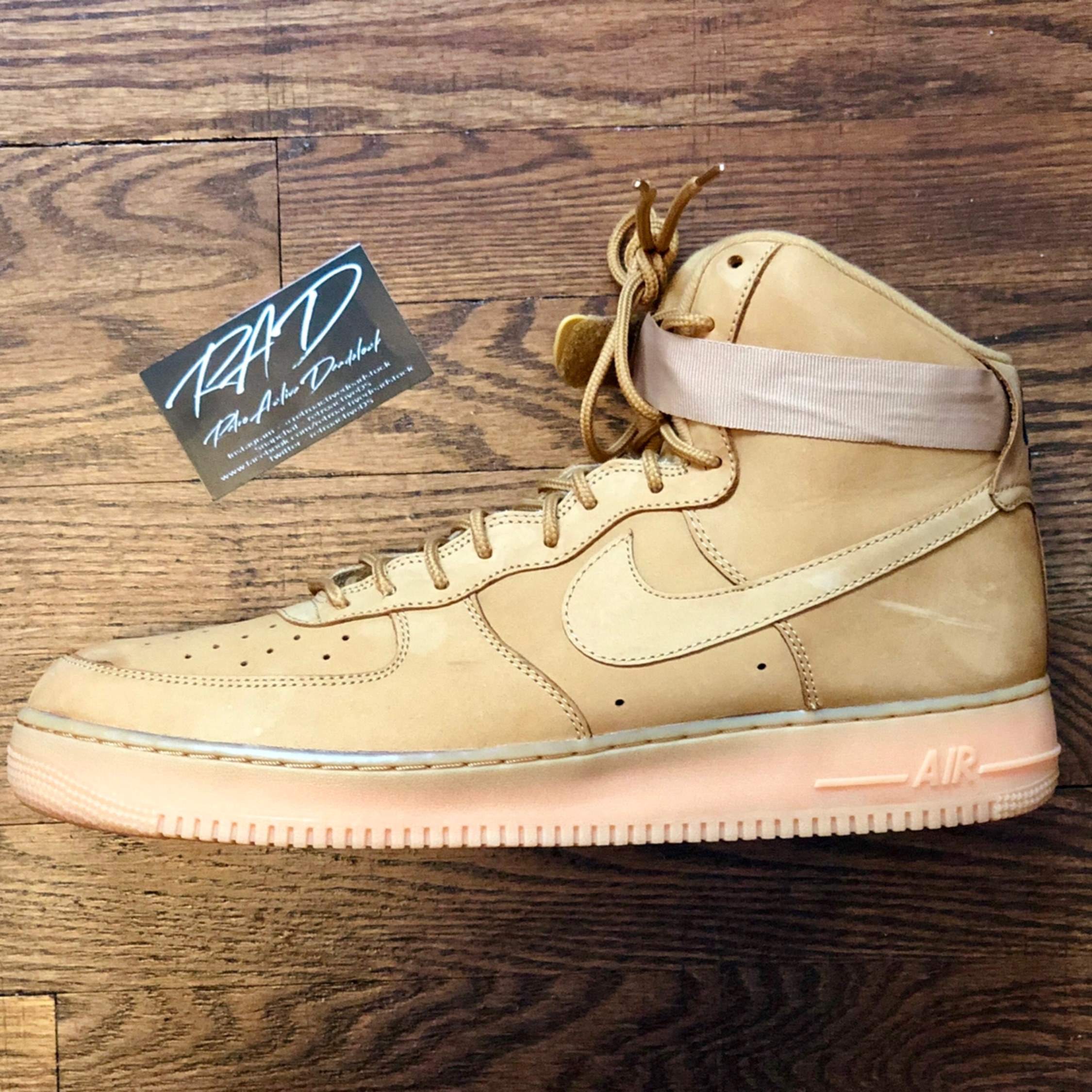 the latest 46ebb 0a826 Nike Air Force 1 High Lv8 Wb Flax Size 14 No Box