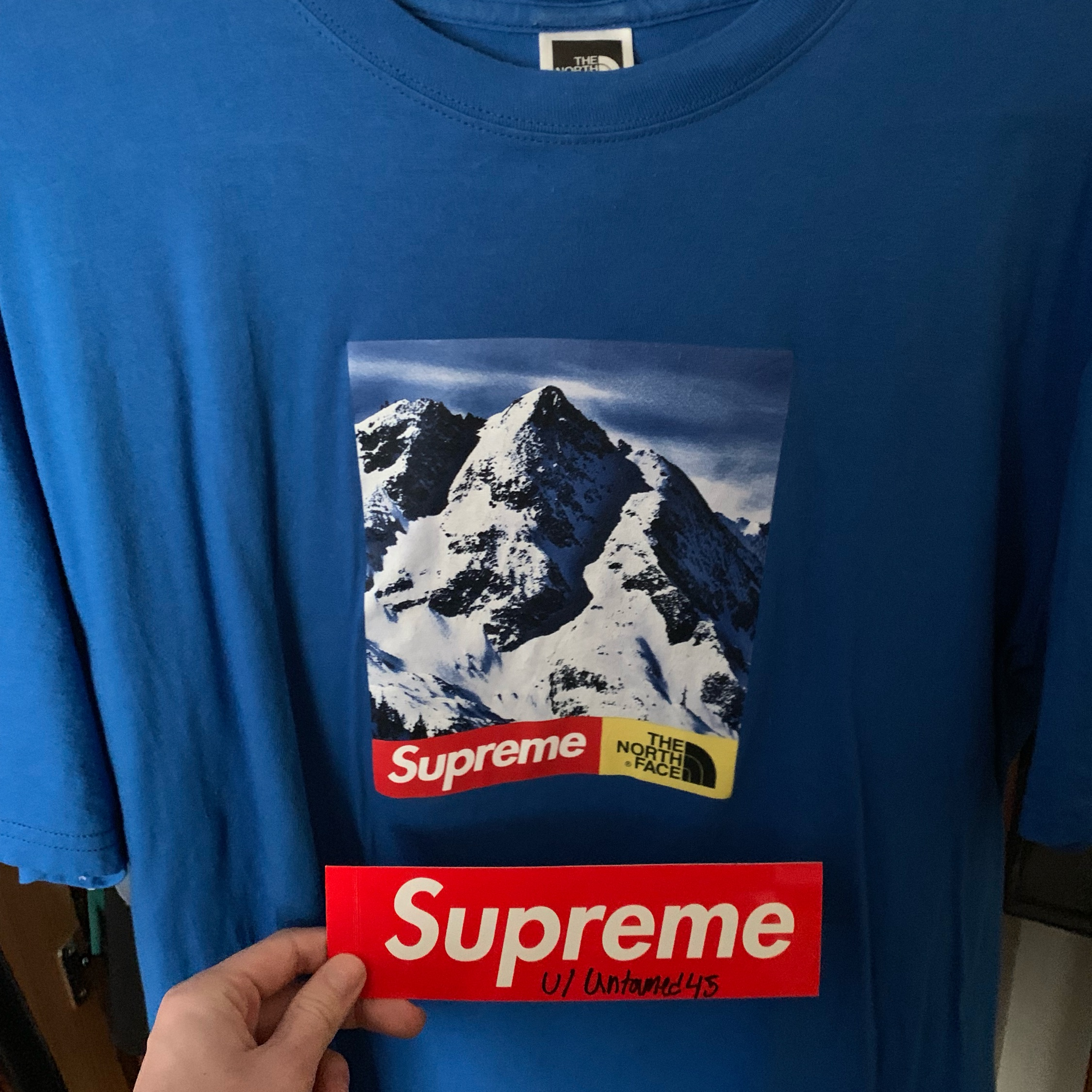 "4a13cd38a Supreme Fw17""The North Face Mountain Tee"" Box Logo"