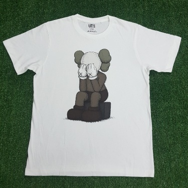 KAWS x Uniqlo Passing Through Tee White