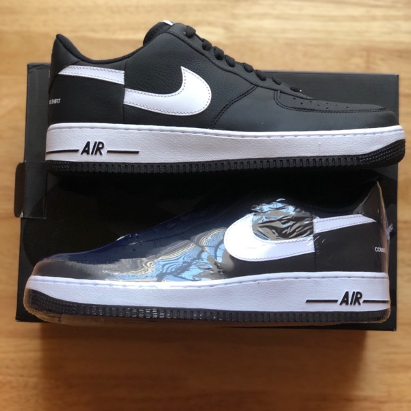 Nike Supreme Cdg Air Force 1 Size 11 Black Fw18